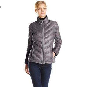 Calvin Klein - Grey Packable Down Jacket Chevron